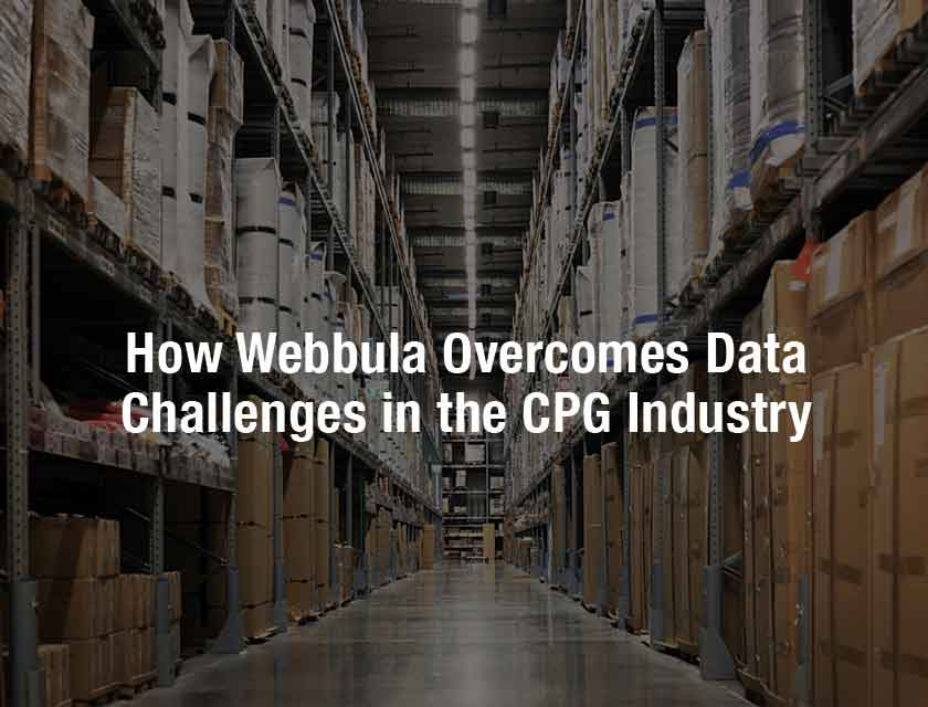 How Webbula Overcomes Data Challenges in the CPG Industry